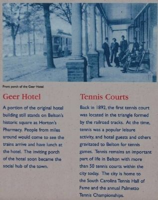 Historic Belton Marker -<br>Geer Hotel and Tennis Courts image. Click for full size.