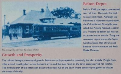 Historic Belton Marker -<br>Belton&#39;s Living History, Local Landmarks,<br>Living Traditions image. Click for full size.