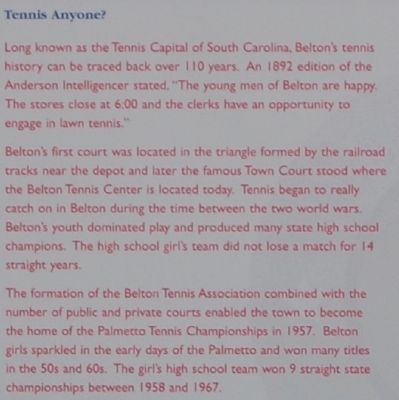 Belton Marker - Tennis Anyone? (Part 1) image. Click for full size.