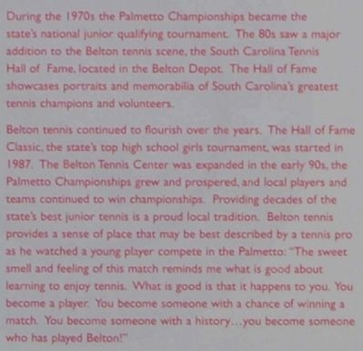 Belton Marker - Tennis Anyone? (Part 2) image. Click for full size.