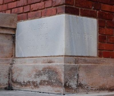 Abbeville County Courthouse Cornerstone image. Click for full size.