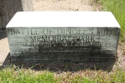 Battle of Dingles Mill Marker image. Click for full size.