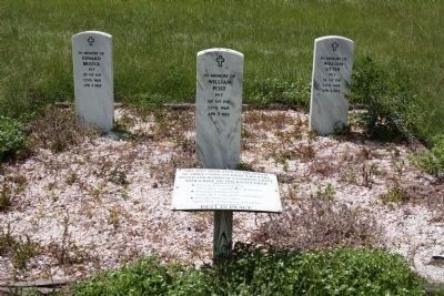 Battle of Dingles Mill Union Soldiers Killed and buried Tribute image. Click for full size.