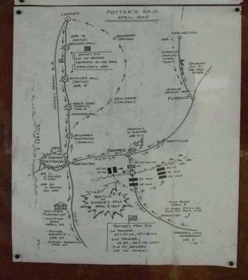 Map includes Battle of Dingles Mill, Potter's Raid image. Click for full size.