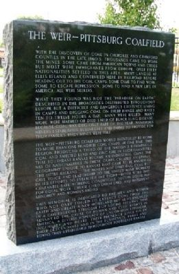 The Weir - Pittsburg Coalfield Marker image. Click for full size.
