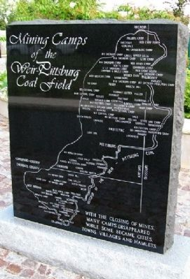 The Weir - Pittsburg Coalfield Marker Reverse - Mining Camps image. Click for full size.