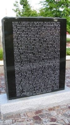 Miners' Memorial Honor Roll image. Click for full size.