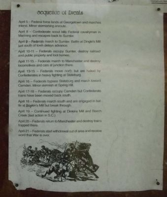 Battle of Dingles Mill Sequence of Events image. Click for full size.
