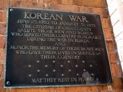 Korean Conflict - Plaque image. Click for full size.