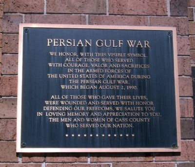 Persian Gulf War - Plaque image. Click for full size.