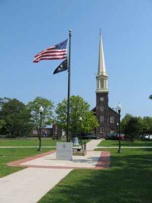 East Haven Charter Day Marker and Flagpole image. Click for full size.