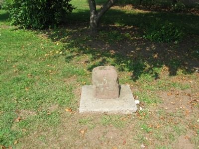 Stone Mile Marker in Margaret Tucker Park image. Click for full size.