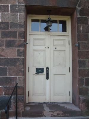 Side Door of the Old Stone Meeting House image. Click for full size.