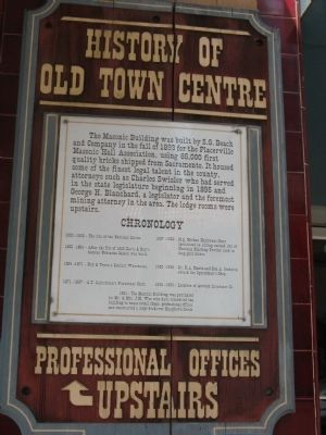 History of Old Town Center Marker image. Click for full size.