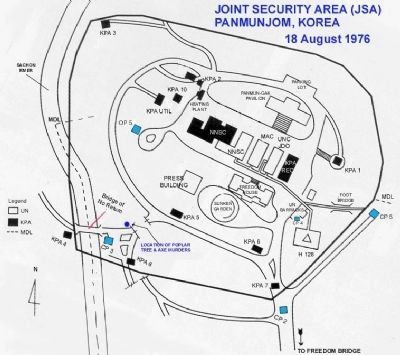 Joint Security Area Map, 1976 image. Click for full size.