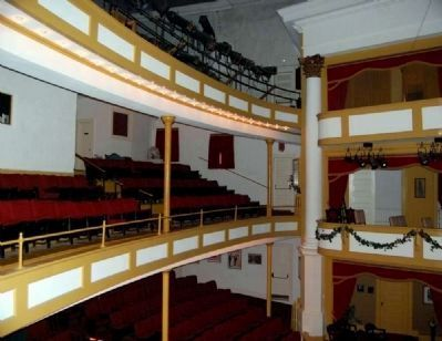 Abbeville Opera House Interior<br>Second & Third Balconies & Box Seats image. Click for full size.