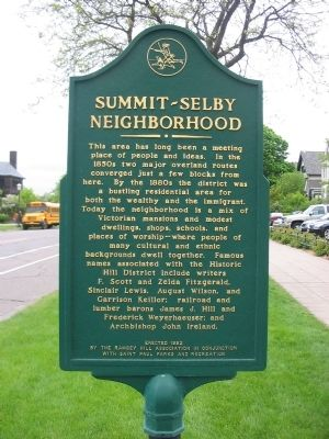 Summit–Selby Neighborhood Marker image. Click for full size.