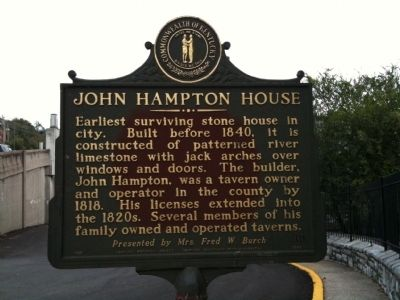 John Hampton House Marker image. Click for full size.
