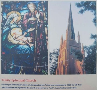 Abbeville Square Marker -<br>Trinity Episcopal Church image. Click for full size.