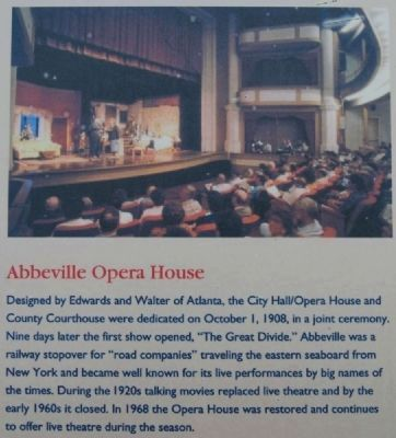 Abbeville Square Marker -<br>Opera House image. Click for full size.