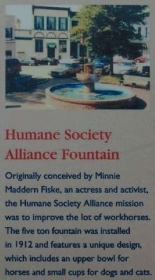 Abbeville Square Marker -<br>Humane Society Alliance Fountain image. Click for full size.