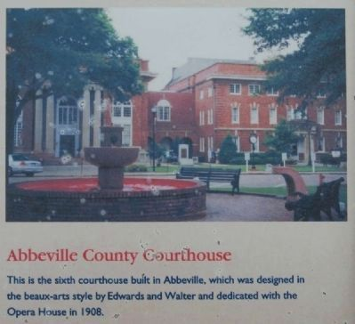Abbeville Square Marker -<br>Abbeville County Courthouse image. Click for full size.