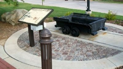 SE Kansas Coal Mining Marker and Coal Car image. Click for full size.