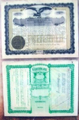 Miners State Bank Certificates on Marker image. Click for full size.