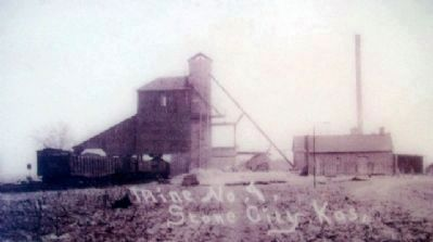 Stone City Mine No. 9 Photo on Marker image. Click for full size.