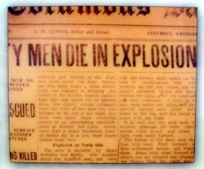 Newspaper Disaster Excerpt on Marker image. Click for full size.