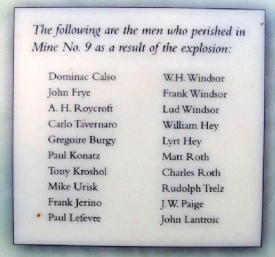 Miners' Names on Marker image. Click for full size.