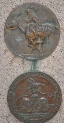 Centennial Trail Marker Plaque with Original Plaque image. Click for full size.