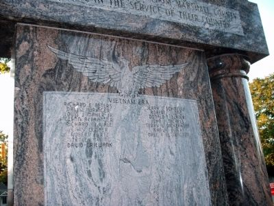 Names - Obverse Side - - Honor Roll - Marshall County Indiana Marker image. Click for full size.
