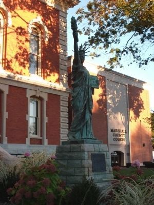 Statue of Liberty - - East Side of Courthouse image. Click for full size.