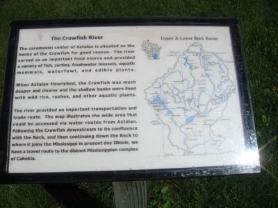 The Crawfish River Marker image. Click for full size.