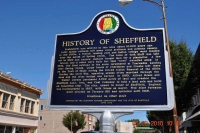 History of Sheffield Marker (Side 1) image. Click for full size.