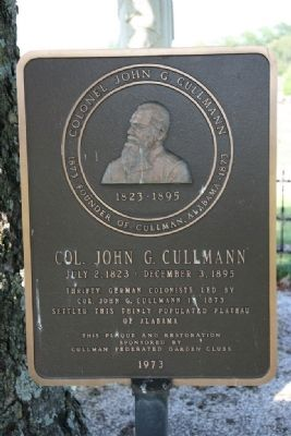 Colonel John G. Cullmann Marker image. Click for full size.