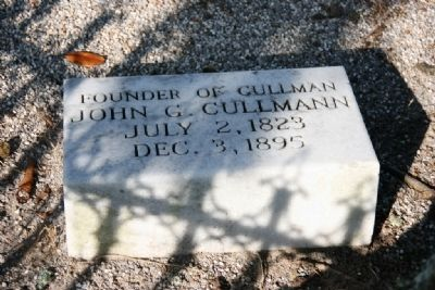 Colonel John G. Cullmann's Headstone image. Click for full size.