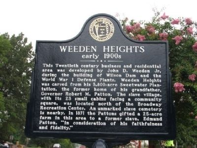 Weeden Heights Marker image. Click for full size.