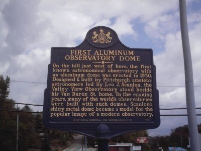 First Aluminum Observatory Dome Marker image. Click for full size.
