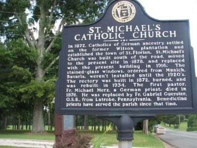 St. Michael's Catholic Church Marker image. Click for full size.