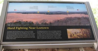 Hard Fighting Near Leetown Marker image. Click for full size.