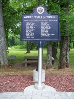 World War I Memorial located in Veterans Park image. Click for full size.