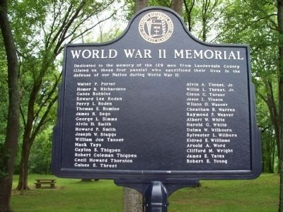 World War II Memorial Marker (Side 4 )P-Y image. Click for full size.