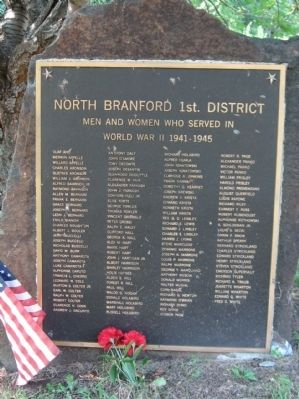 North Branford World War II Monument image. Click for full size.