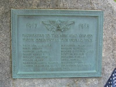 North Branford World War I Monument image. Click for full size.