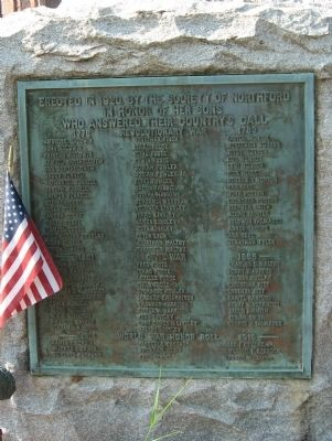 Northford Veterans Monument image. Click for full size.