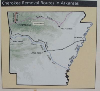 Cherokee Removal Routes in Arkansas image. Click for full size.