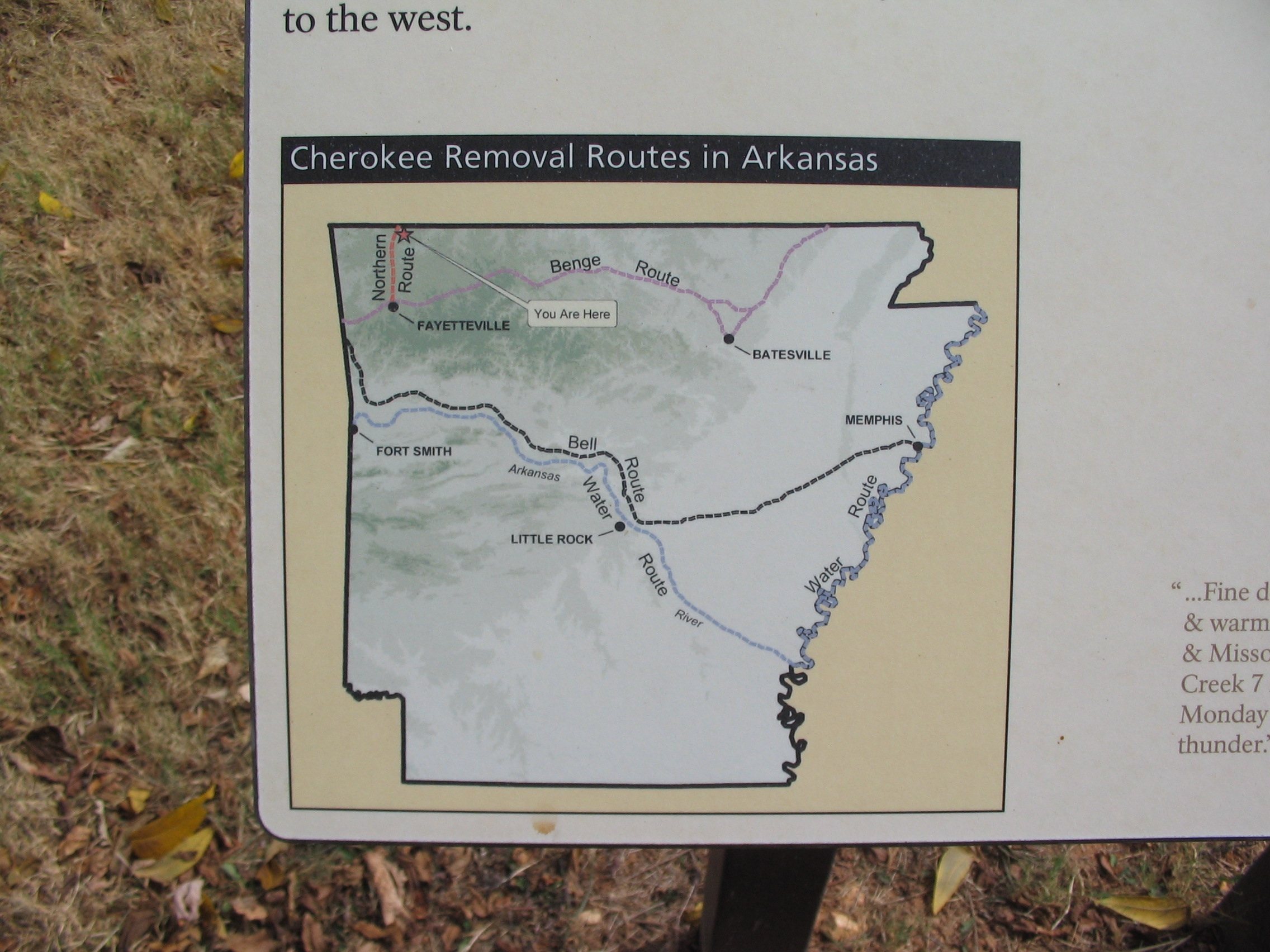 Cherokee Removal Routes in Arkansas