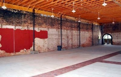 A.M. Hill and Sons Livery Stable -<br>Exposed Brick Along Southwest Wall image. Click for full size.